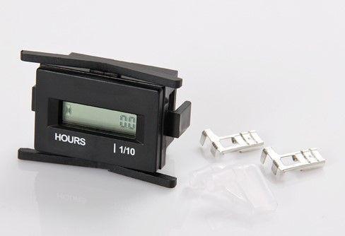 Horamètre, IP68, écran LCD, rectangulaire, fixation par clip, 13mA, 4,5-60VDC