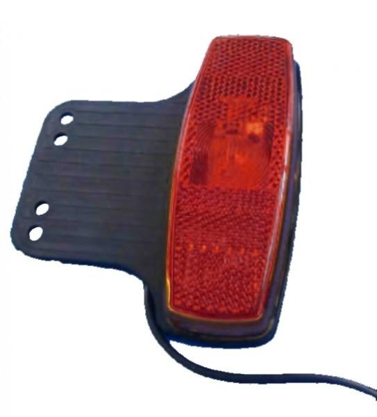 Feu de gabarit avec catadioptre AVEC LED ROUGE avec support