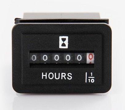 Horamètre, affichage roues, carré, fixation par clip, 8.3mA, 6-50VDC, IP65