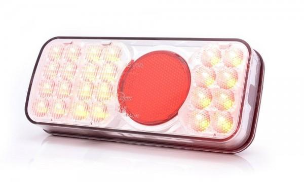 Feu multifonction arrière GAUCHE LED (stop - position - catadioptre - feu de brouillard - clignotant) 12-24V câble 190cm
