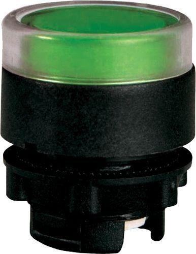 Bouton poussoir lumineux plastique affleurant vert