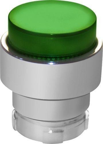 Tête bouton poussoir Métal dépassant lumineux vert