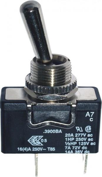 Interrupteur à levier 1P ON-OFF-(ON) IP65