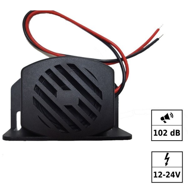 Alarme de recul ton intermittent 12-24V 102dB