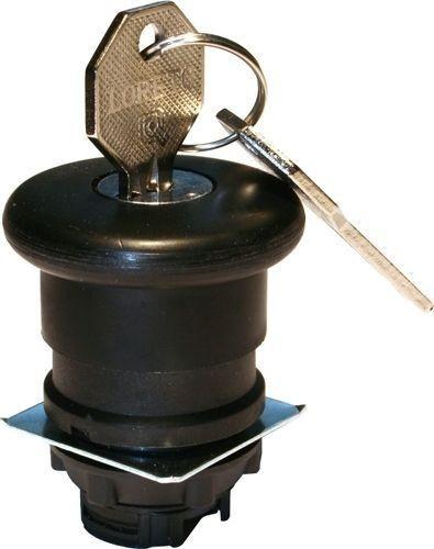 Arrêt d´urgence Plastique 40mm poussé-tiré noir avec 455