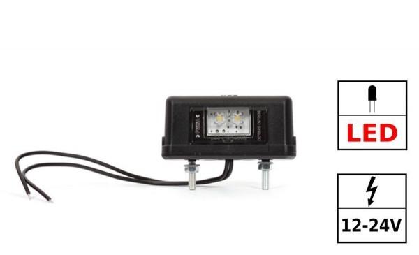 Eclaireur de plaque LED 12-24VDC 0.4W / 0.7W IP 66/68 (câble 200mm Lg Y-S 0.75mm²) ECE R 4