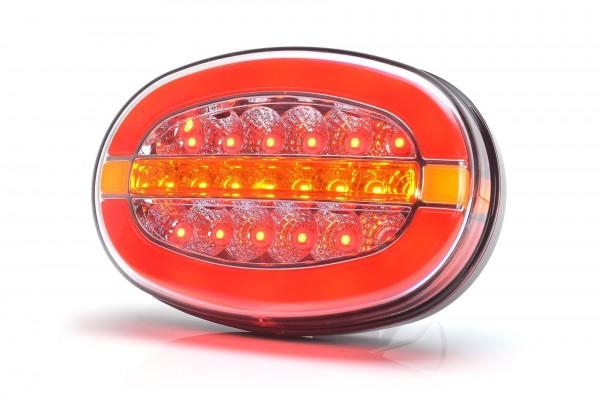 Feu arrière multi fonction G/D LED 12-24V (stop - position - clignotant) 200 cm de câble