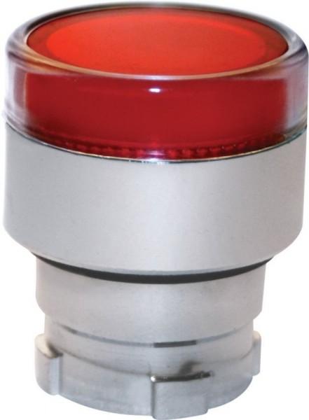 Tête Bouton poussoir Métal affleurant lumineux rouge
