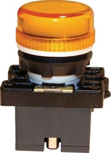 Voyant plastique Orange + Support + LED 110V