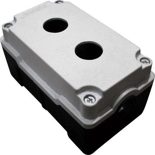 Boîtier métallique aluminium moulé 2 trous 52 mm de profondeur
