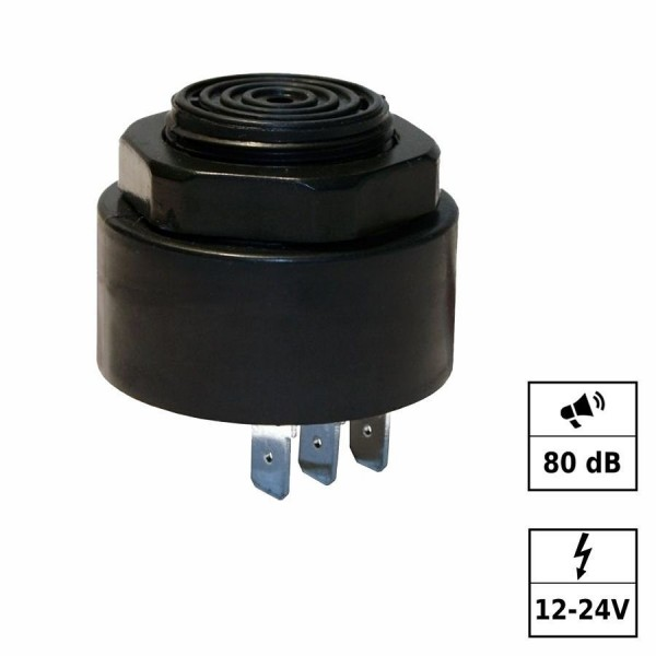 Piezo buzzer 24V 3 broches
