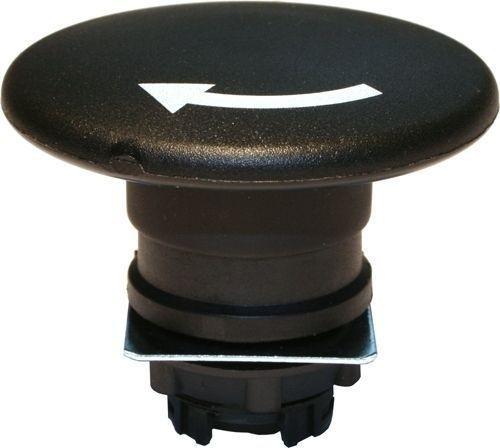Arrêt d´urgence Plastique 60mm 1/4 tour noir