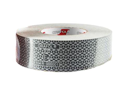 ECE 104 ruban adhésif contour de sécurité BLANC 50mmx50m