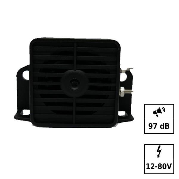 Alarme ton intermittent 12-80V 97DB Connections par vis