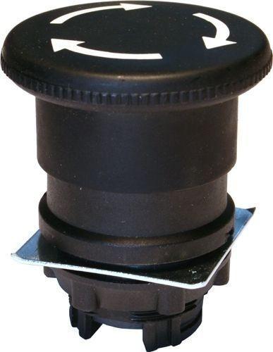 Arrêt d´urgence Plastique 40mm 1/4 tour noir