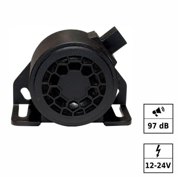 Alarme ton intermittent 97db 12-24V Connecteur AMP