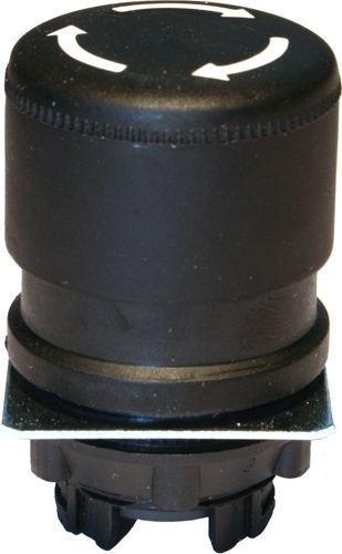 Arrêt d´urgence Plastique 30mm 1/4 tour noir