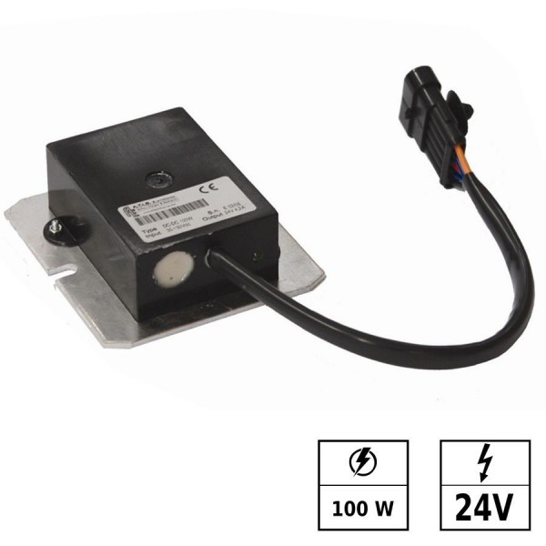 Convertisseur de tension 30-150 VDC/24 VDC 4,6A 100W IP65 Connexion en parallèle possible