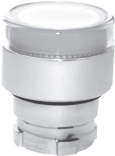 Bouton poussoir lumineux métal affleurant transparent