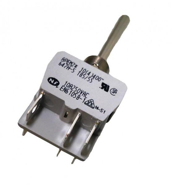 Interrupteur à levier long 2P (ON)-OFF-(ON) levier 40mm