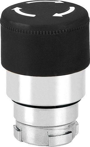 Arrêt d´urgence Métal 30mm poussé-tiré noir