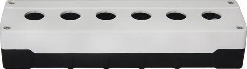 Boîtier 6 trous ABS Blanc/Noir
