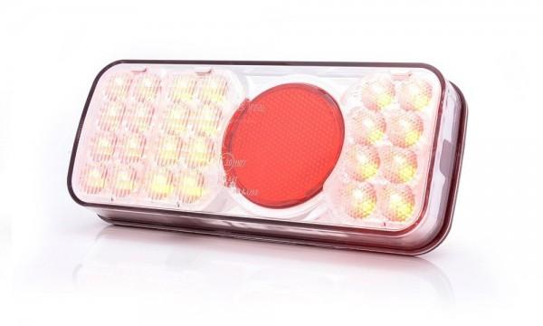 Feu multifonction arrière GAUCHE LED (stop - position - catadioptre - feu de brouillard - clignotant- éclaireur de plaque) 12-12V câble 190cm