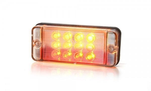 Feu arrière multi fonction G/D LED (stop - position- clignotant) 12-24V 38cm de câble