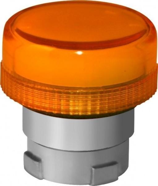 Tête de voyant lumineux orange métal