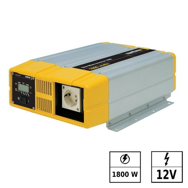 Convertisseur de tension sinus pur12Vdc 230Vac 1800W PROsine prise Schuko (2 broches)