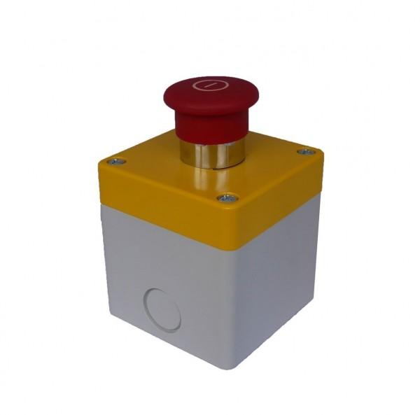 Boitier Arrêt d''Urgence plastique Comepi + 1BAU 1/4 T + 1NC Teknic