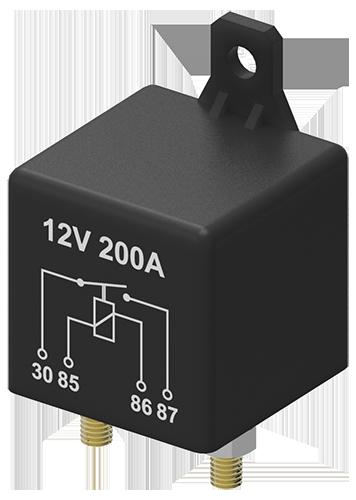 Relais Heavy duty NO 12V 120A/200A 4P