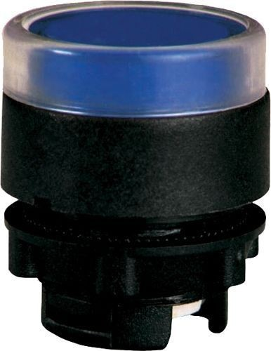 Bouton poussoir lumineux plastique affleurant bleu