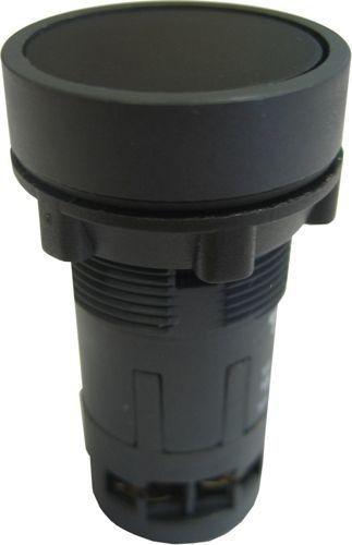 Bouton poussoir Monobloc momentané affleurant noir - 2NC