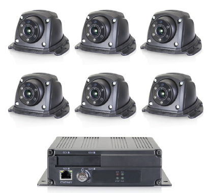 Kit système 360° comprenant 6 caméras 1080 Full HD 170° et boitier de contrôle ARM Cotex A9