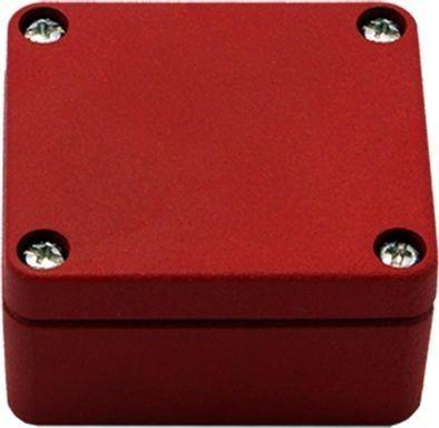 Efabox - Boîtier en aluminium injecté sous pression IP68 64x58x34 rouge