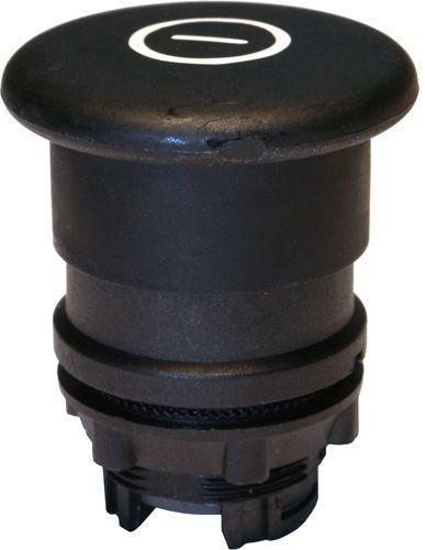 Arrêt d´urgence Plastique 40mm poussé-tiré noir