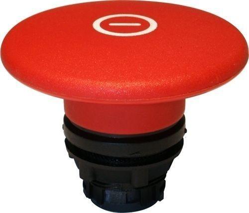 Arrêt d´urgence Plastique 60mm momentané rouge