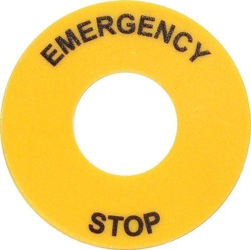 Etiquette circulaire Emergency Stop