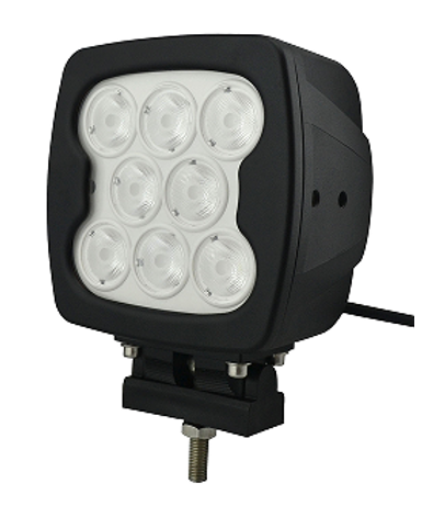 Phare de travail 7 pouces 80W LED cree 5400 Lm 12-48V carré fixation visse Flood beam