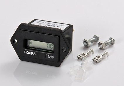 Horamètre, réinitialisable, IP65, écran LCD, fixation à vis, 13,3mA, 4,5-90VDC