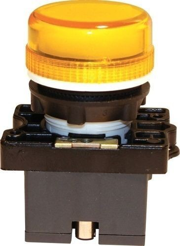 Voyant plastique à douille & ampoule 12V jaune