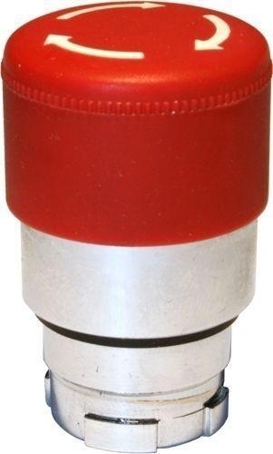 Arrêt d´urgence Métal 30mm 1/4 tour rouge