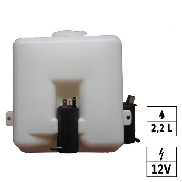 Réservoir lave glace 12V 2,2L 2 pompes