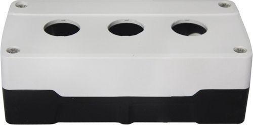 Boîtier 3 trous ABS Blanc/Noir