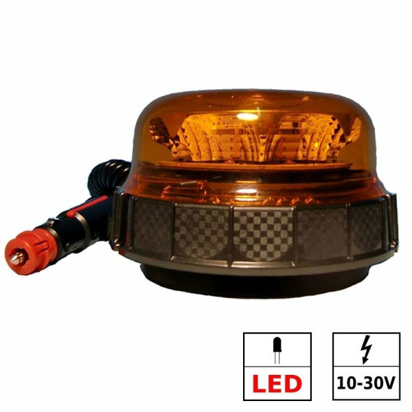 Gyrophare LED 3 fonctions ECE R65 allume cigare