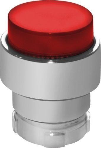 Tête bouton poussoir Métal dépassant lumineux rouge