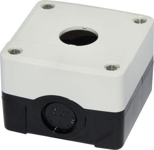 Boîtier 1 trou PC Blanc/Noir