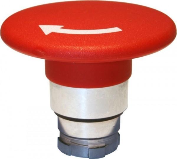 Arrêt d´urgence Métal 60mm 1/4 tour rouge