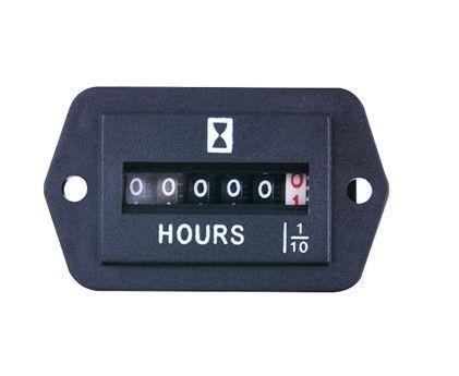 Horamètre, affichage roue, carré, fixation par vise, 8.3mA, 6-50VDC